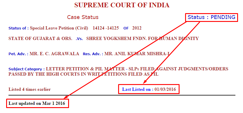 Fix Pay Case Supreme Court Status ⋆ Ojas Mahiti